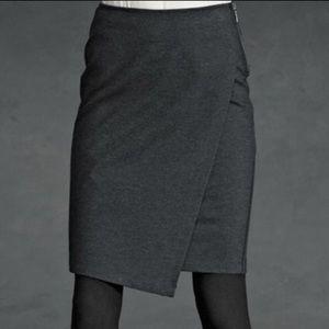 Cabi 998 Faux Wrap Asymmetric Pencil Skirt